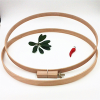 1PC Dia37cm High 2.4cm Beech Wooden Embroidery Hoop For Embroidery Patchwork Round Wood Art Handicraft Tools