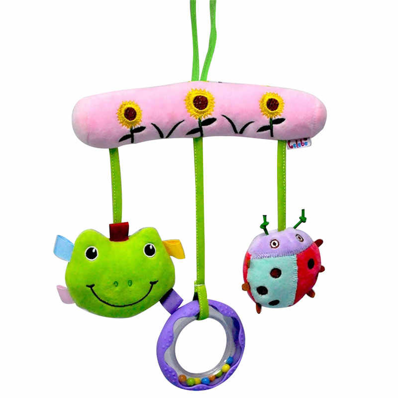 חמוד תינוק צעצועי רך מוסיקלי יילוד ילדים צעצועי בעלי החיים תינוק נייד עגלת צעצועי קטיפה בובת משחק Brinquedos Bebes סיטונאי