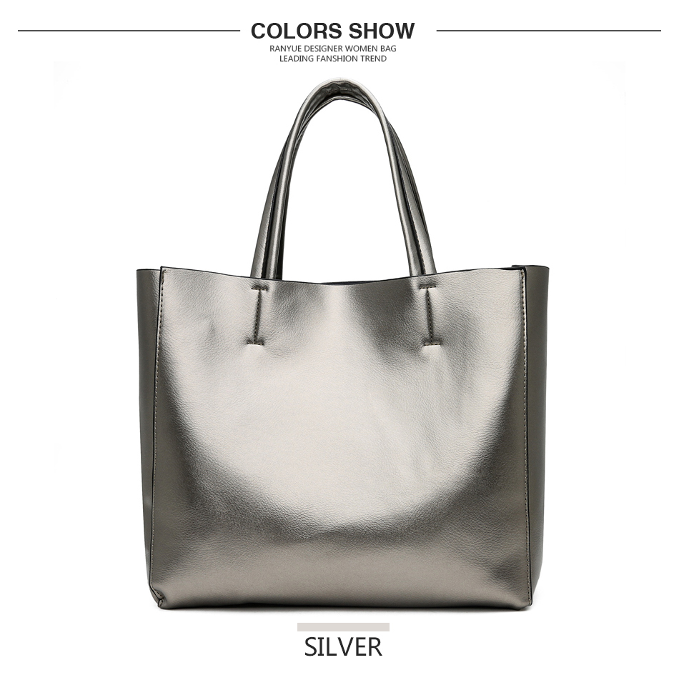 29c9240b3df0 Solid Large Capacity Women Bags Casual Tote Women Pu Leather ...