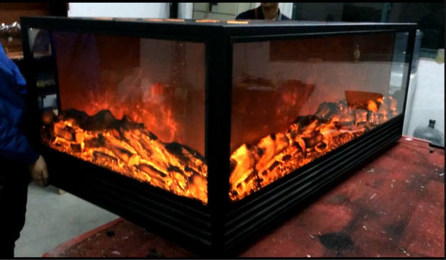 Decor Flame 4 Sided Electric Fireplace Heater