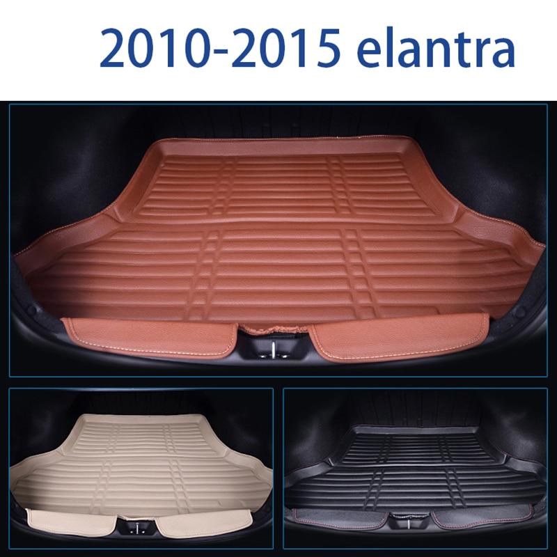 Lsrtw2017 en cuir de fibre de tapis de coffre de voiture pour hyundai elantra 2006-2019 2010 2011 2012 2013 2014 2015 2016 2017 2018 2019 Avante