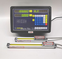 JCS900 2AE 2 Axis digital readout with linear scale linear encoder linear ruler for milling lathe machine