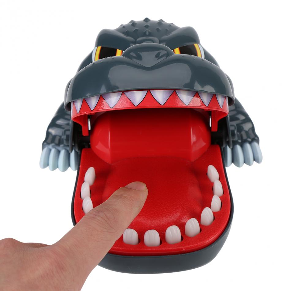 Funny New Novelty Gag Toy Dinosaur Mouth Bite Finger Game Trick Toy Interactive Kids Family Toys For Kids Children Play Fun Toys