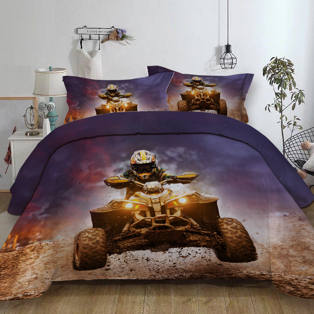 Rally Printed Bedding Set For Comforter Duvet Cover Set With Pillowcases Queen King Twin Sizes Bed Linens Set Bedclothes New 3pc