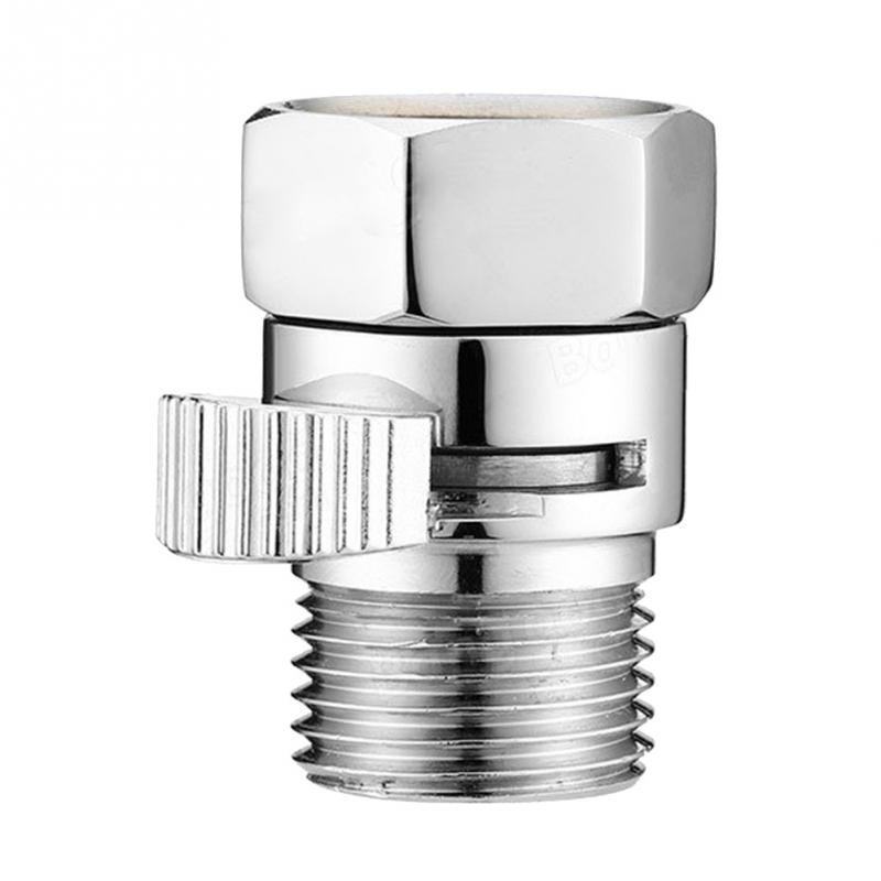 Brass Flow Control Valve Water Pressure Reducing Controller Hand Held Sprayer Head Shut Off Stop Switch For Shower Supply