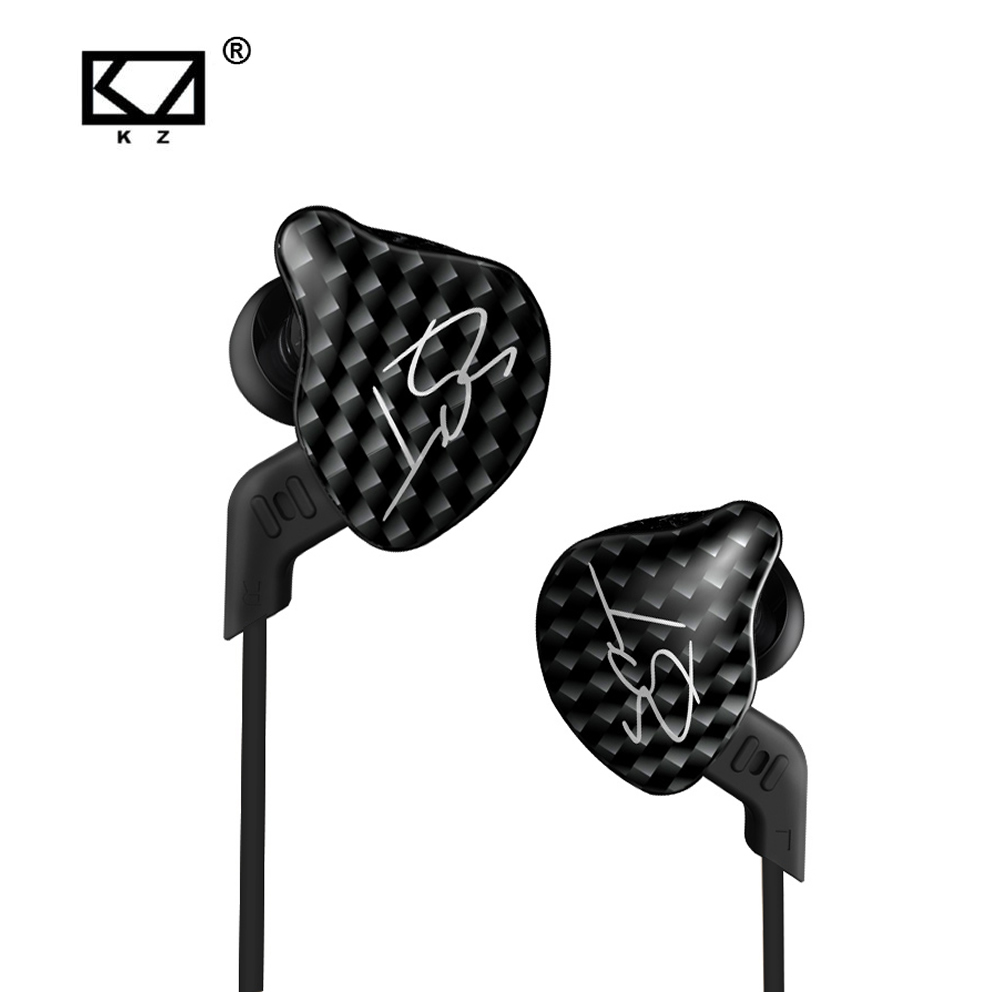 KZ ZST black Armature Dual Driver Earphone Detachable Cable In Ear Audio Monitors Noise Isolating HiFi Music Sports Earbuds kz ed12 custom style earphone detachable cable in ear audio monitors noise isolating hifi music sports earbuds with microphone