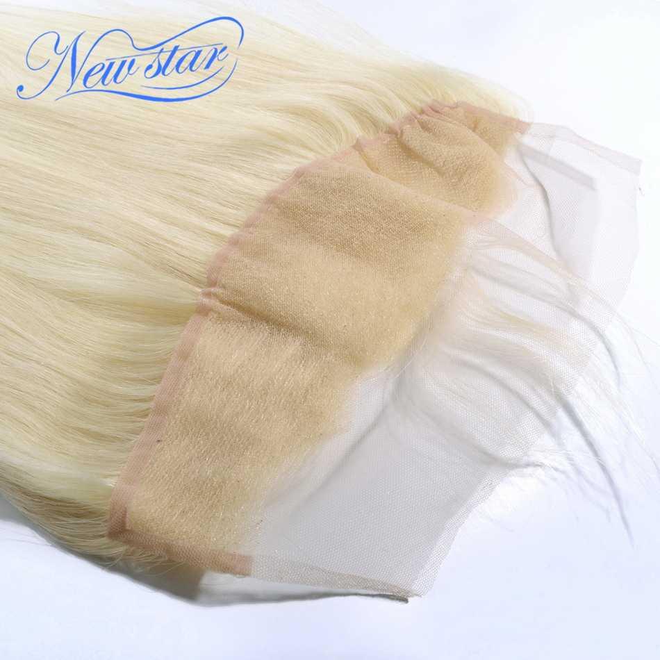 Новинка, Звездные волосы, блонд, 13 ''x 4'', кружевные фронтальные накладки, бразильские волосы remy, 613, прямые, 100%, человеческие волосы, ушные, Бесплатная часть