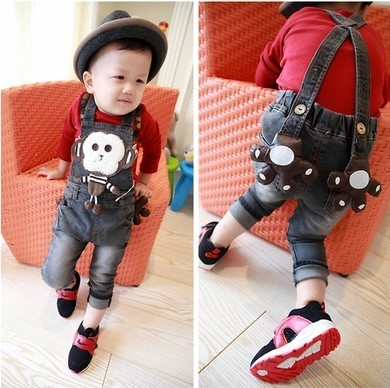 Free shipping 2017 spring and autumn baby boys pants jeans trousers for kids boys children animal design pants baby clothing