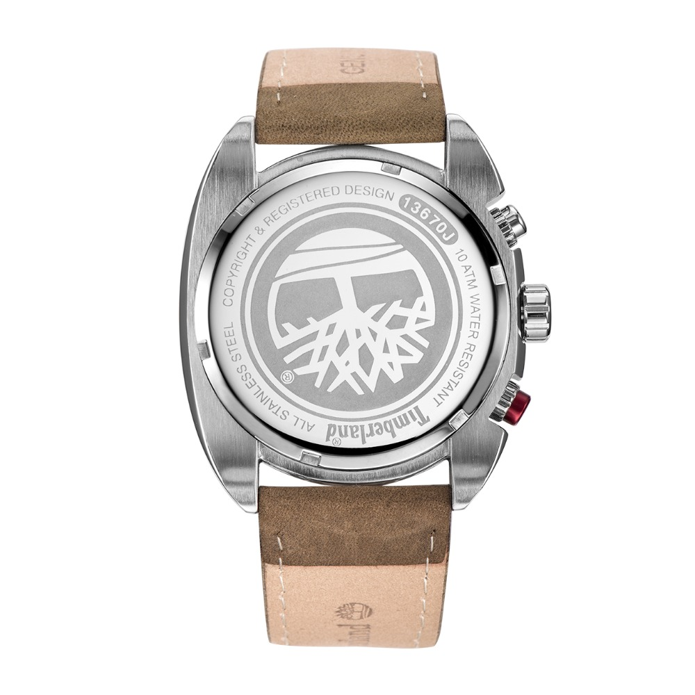 Timberland Mens Watches Multi-function Calendar Leather Casual Quartz Chronograph 100m Waterproof Watches T13670 3