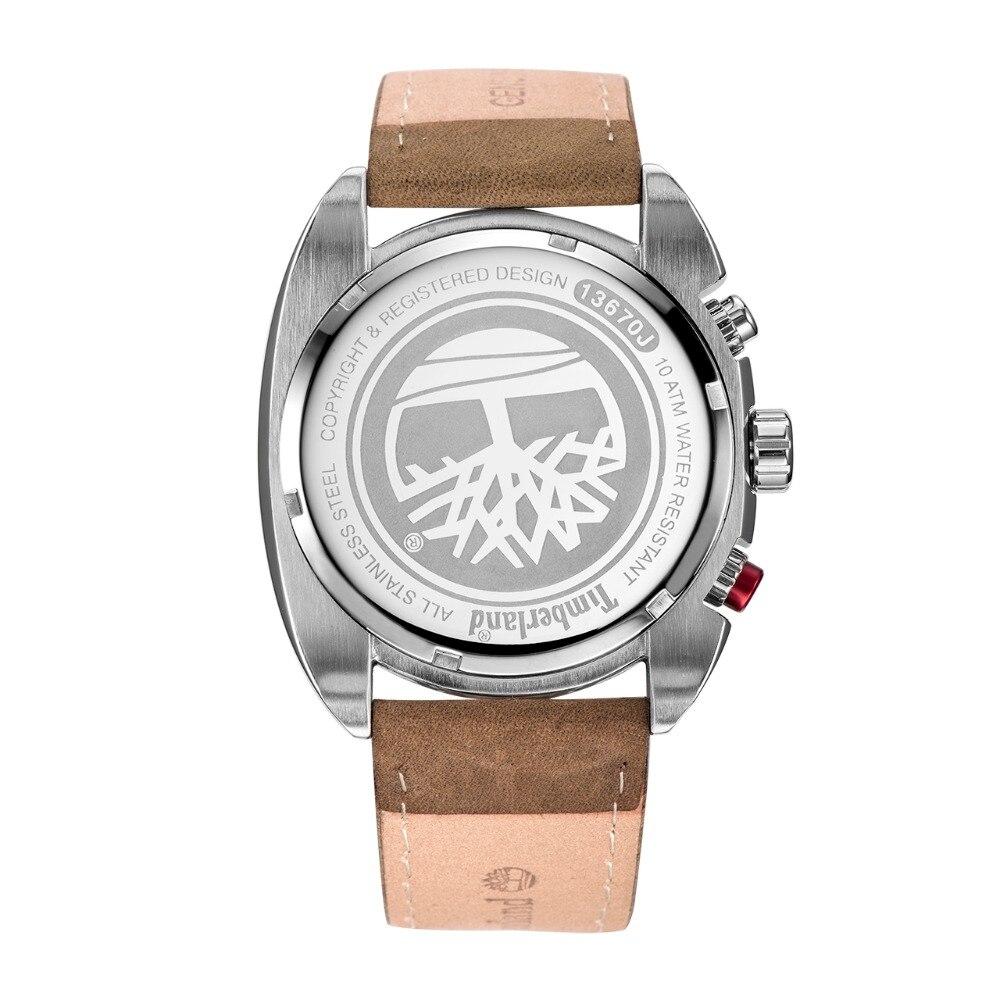 Timberland Multifunkční displej Kalendář Pánské hodinky Kožená módní ... 946f825a17f