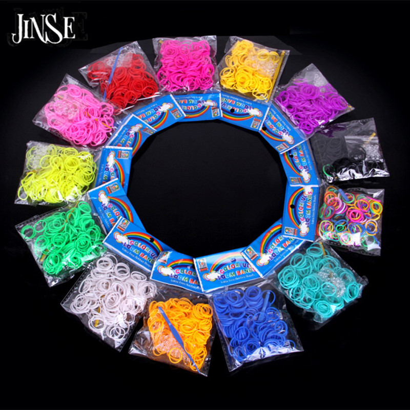 Buy now JINSE DIY Candy Solid Color Loom bands High Quality Loom Bands Refill DIY Bracelet