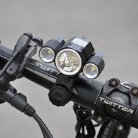 Bicycle Front Light CREE T6 LED Bike Lamp X3 Headlights MTB FlashLight 8800mah Battery Cycle Headlamp