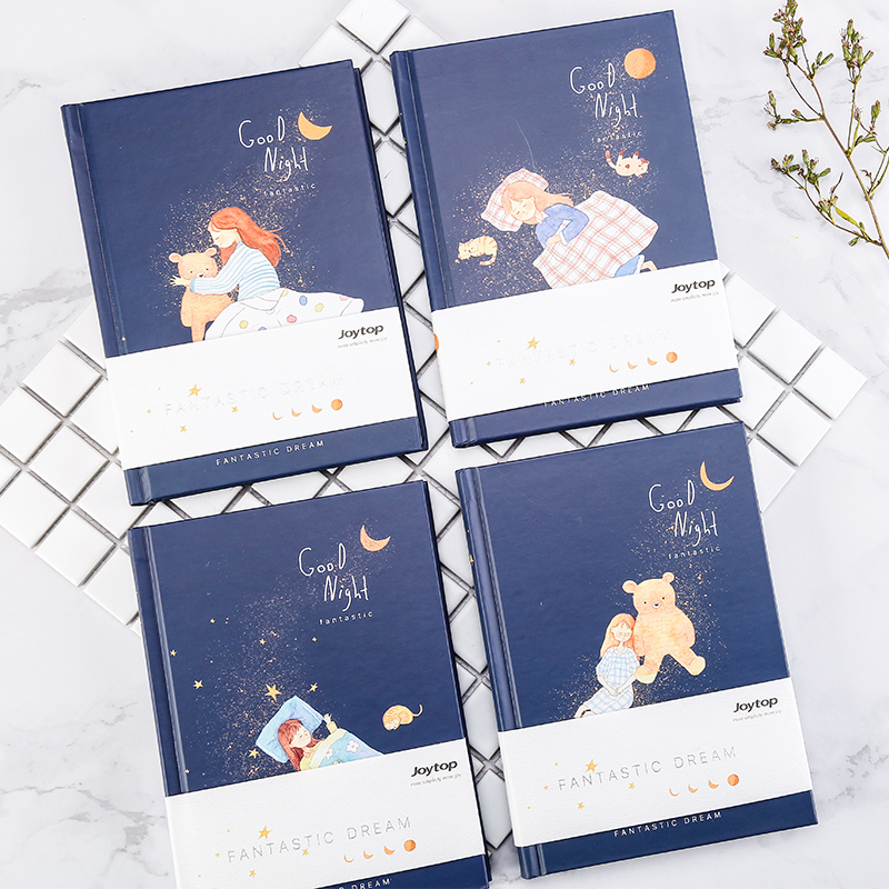 JOYTOP Good Night Color Page Notebook A5 Minimalist Notebook 1PCS joytop 365 day plan notebook color page multifunction schedule efficiency handbook notebook notepad diary 1pcs