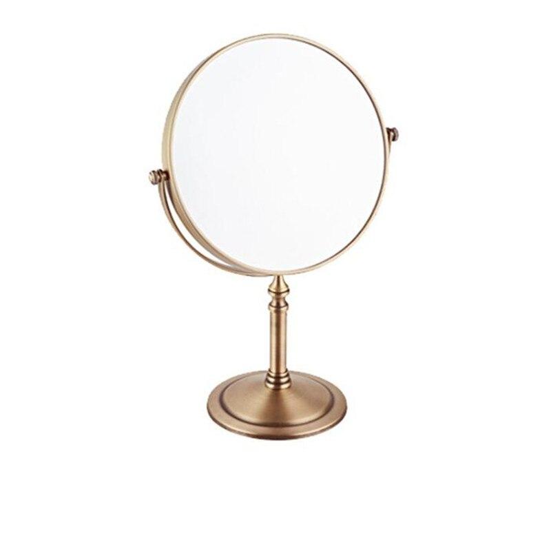 LIUYUE, зеркало для макияжа, медное, черное, стиль, 8 дюймов, зеркало для макияжа, профессиональное туалетное зеркало, 360 градусов, для ванной комнаты, Лупа - Цвет: antique