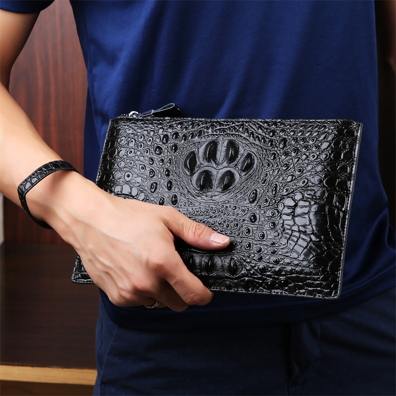 Luxury Brand Business Men Wallets Long genuine Leather Cell Phone Clutch Wallet Purse Hand Bag Zipper Large Wallet Card Holders 2017 luxury brand men genuine leather wallet top leather men wallets clutch plaid leather purse carteira masculina phone bag