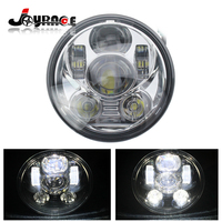 5.75 Inch Round 75W Daymaker Projector LED Headlights High/Low Beam w/DRL for Jeep Wrangler JK TJ Harley Davidson