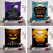 Large 3D Print Halloween Tapestry Wall Hanging Skull Sandy Beach Towel Wall Throw Blanket for Party Festival Camping Tent Mattre(China)