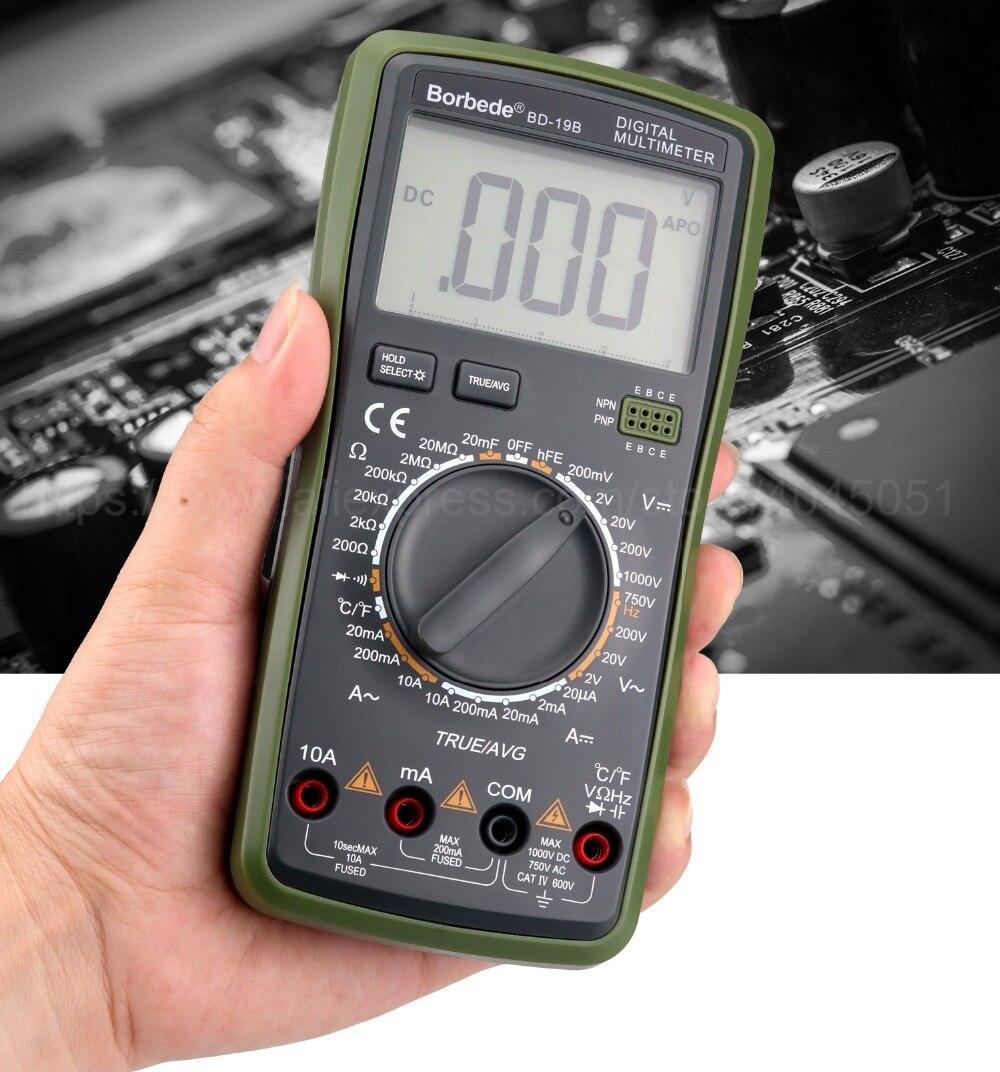 ac resistência atual capacitância temperatura true rms diodo tester 2000 contagens