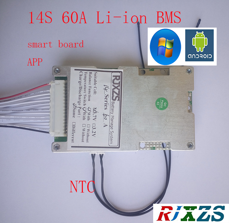3s-17s Lithium Li-ion Battery Led Test Board Protection Board Cable Wiring 10s 36v 13s 48v 16s 60v Bms Line Connector Detection Accessories & Parts Circuits