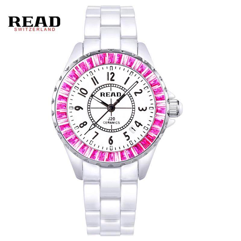 ФОТО Read Watch Women Watches Men Top Brand Lxury Famous 2016 Wristwatch Female Clock Quartz Wrist Watch Ceramic Quartz-watch PR38