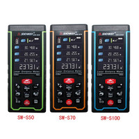 SNDWAY 50M 70M 100M Range Finder Distance Meter Laser Rangefinder Color Digital Rechargeabel USB SW S50