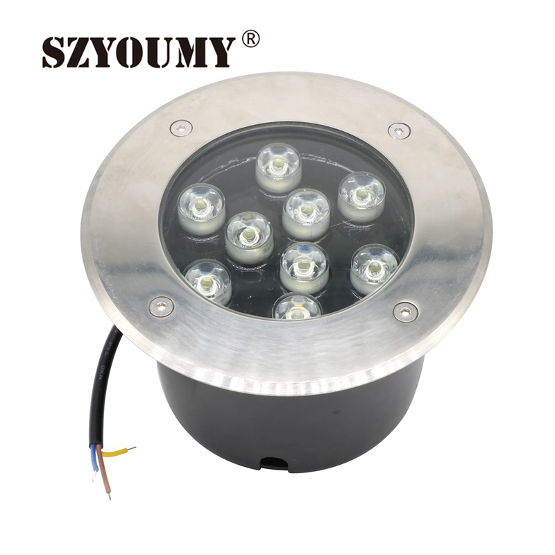 Led Lamps Hearty Szyoumy White/warm White/green/red/blue Waterproof Outdoor Garden Path Floor 9w Underground Lamps Buried Yard Lamp Spot Removing Obstruction