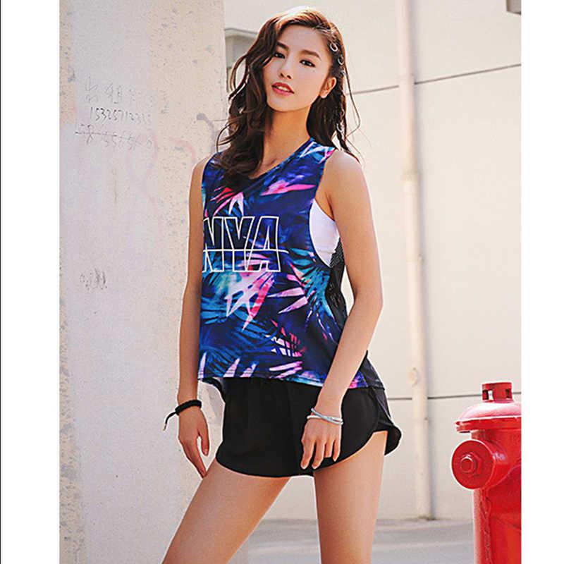 พิมพ์เซ็กซี่กีฬา TOP ฟิตเนสผู้หญิงโยคะโยคะฟิตเนสเสื้อกีฬาผู้หญิงกีฬาหญิงสุภาพสตรีเสื้อ T