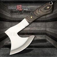 Faca de desossa aço inoxidável cortar ossos carne sobrevivência machado acampamento fogo machado ferramentas ao ar livre faca caça tomahawk utilitário