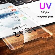 UV Glue Tempered Glass For Huawei Mate 20 pro P30 lite Nano Liquid Full Screen Protector for LG V30 V40 G7 phone glass film
