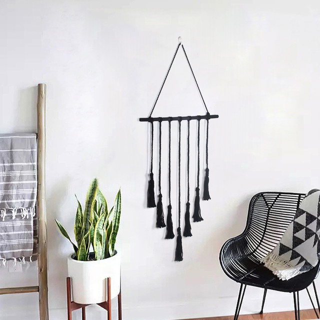 white bohemian hanging chair unfinished rocking seashell chandelier spiral style vintage wall handwoven cotton rope boho tapestry home decor kk4