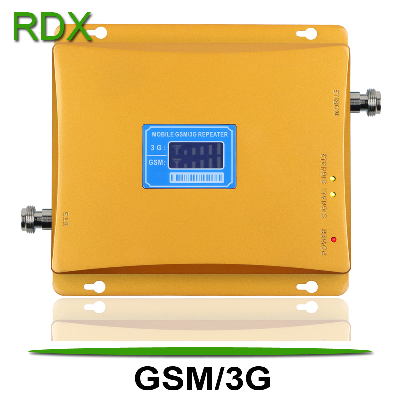 New Cellphone Dual Band 2G 3G Signal Repeater High Gain Mobile Phone Dual Band GSM 900 W-CDMA 2100 MHz Signal Booster Amplifier
