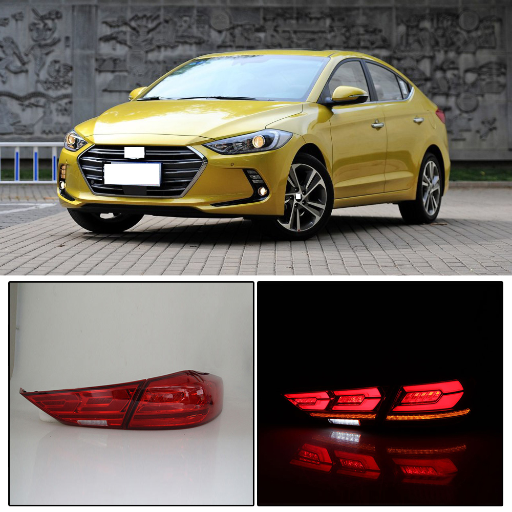 detail feedback questions about capqx 1 set for hyundai elantra gt 2017 2018 led rear light tail light assembly rear brake taillight stop light praking lamp  [ 1000 x 1000 Pixel ]