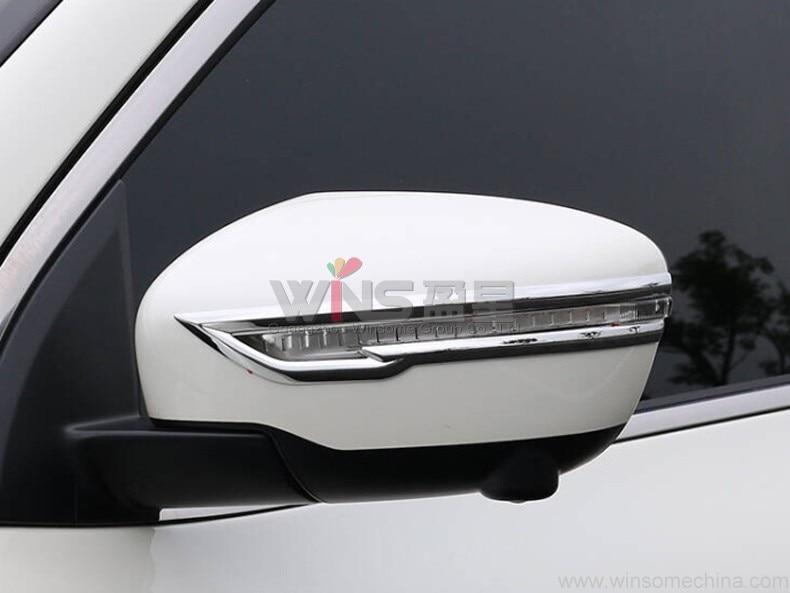 Prix pour Pour Nissan Juke 2014 2015 2016 Chrome Porte Miroir Garniture Chrome Car Styling Accessoires