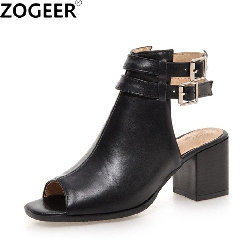 Ehrgeizig 2019 Sommer Marke Sandalen Schuhe Frau Sommer Gladiator Mode Sexy Peep Toe Ankle Strap Medium Ferse Alias Für Frau