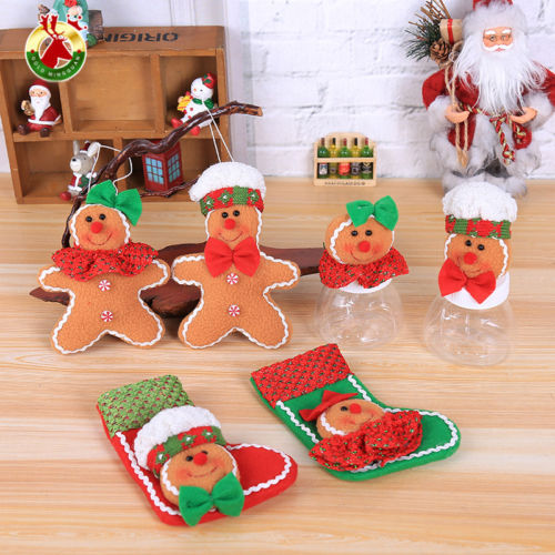 gingerbread man christmas tree ornaments decorations supplies happy festival