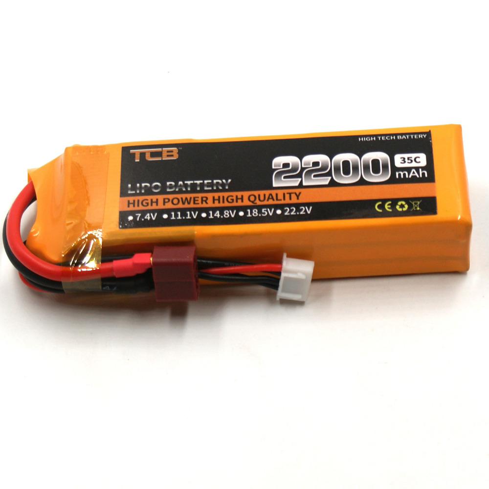 TCB RC drone lipo battery 11.1v 2200mAh 35C 3S FOR RC airplane free shipping