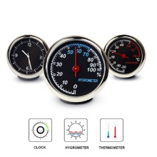 Автомобильные мини автомобильные цифровые часы автомобильные часы Автомобильный термометр гигрометр украшение орнамент часы в автомобиле аксессуары