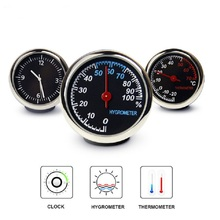 Car Mini Automobile Digital Clock Auto Watch Automotive Thermometer Hygrometer Decoration Ornament C