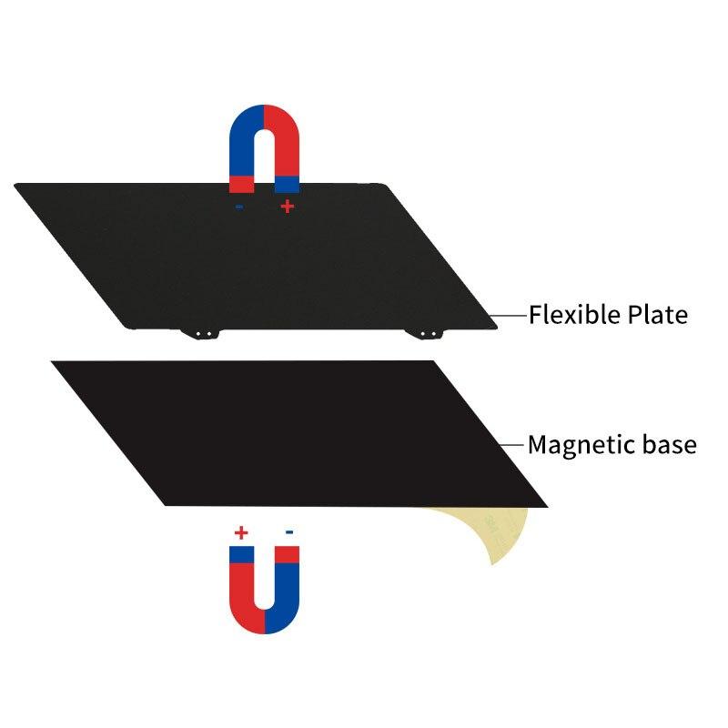 300x300mm PEI plaque de remplacement pour imprimante 3D poudre noir 2 faces magnétique autocollant amovible texturé Durable