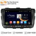 GreenYi 5.1.1 Kia Sorento Android DVD Player GPS de Navegação Rádio TV Bluetooth 3G 4G Encosto de Cabeça Do Sistema Quad Core Multimídia carro