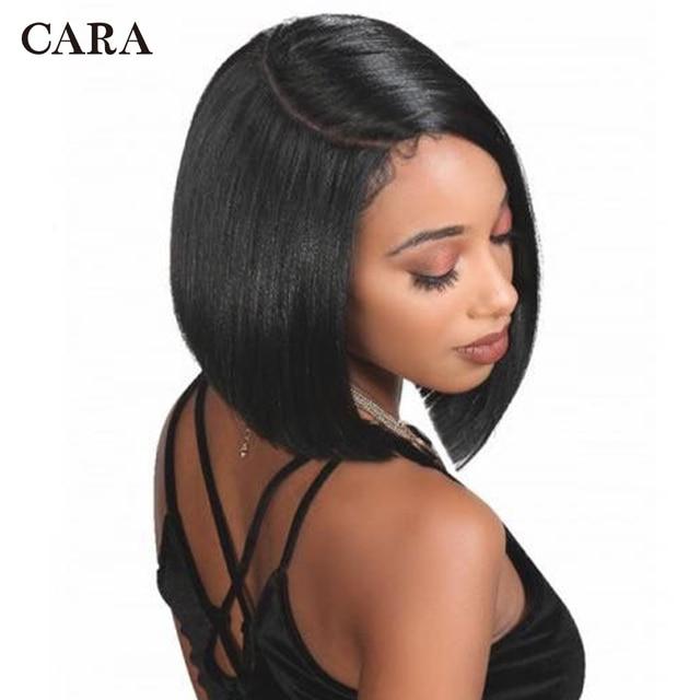 Short Bob Wig Brazilian Remy Hair Bob Lace Front Human Hair Wigs 360