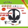 Оптовая бесплатная доставка моды Профессиональный 5 в 1 Беспроводные Наушники Наушники Монитор FM Передатчик для MP3 ПК TV CD