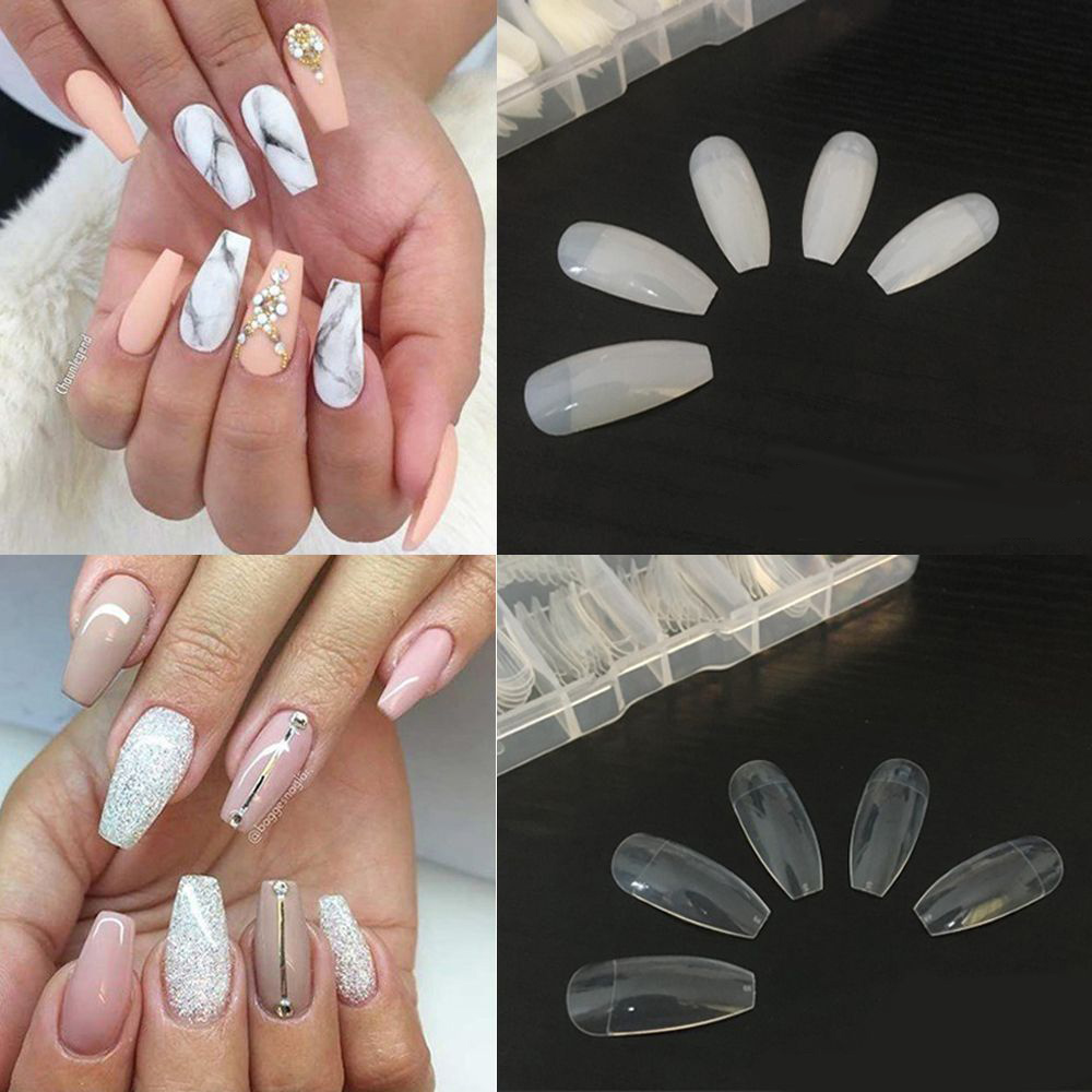 Buy coffin tips nails half cover and get free shipping on AliExpress.com