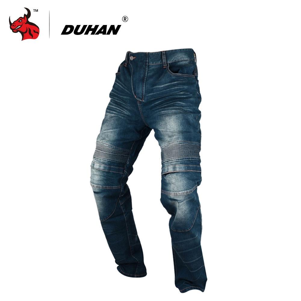 DUHAN Moto Pantalon Hommes Moto Jeans Occasionnels Pantalon Hommes de Moto Motocross Off-Road Genou De Protection Moto Jeans Pantalon