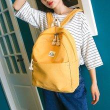 Холст женщины рюкзак японский и корейский моды ученик средней школы мешок школы свежий опрятный стиль школьные сумки высокого качества