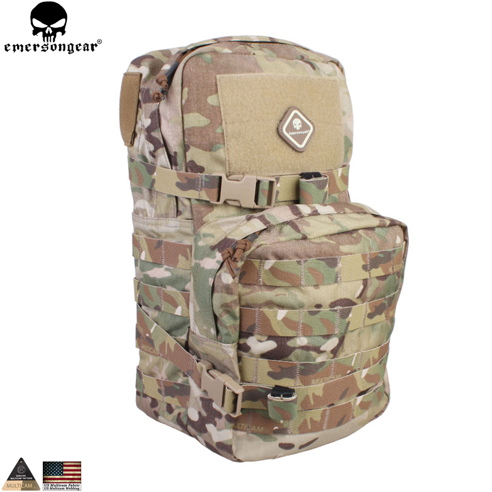 EMERSONGEAR Modular Pack 2.5L Hydration Pack Bag Assault Molle Backpack ռազմական Paintball EM5816