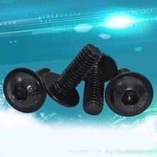 10 шт. M8 10,9 уровень круглая чашка с накладкой Шестигранная отвертка с грибовидной головкой Болт черные полу-туров головки винта Allen может занять от 10 до 30 мм в длину