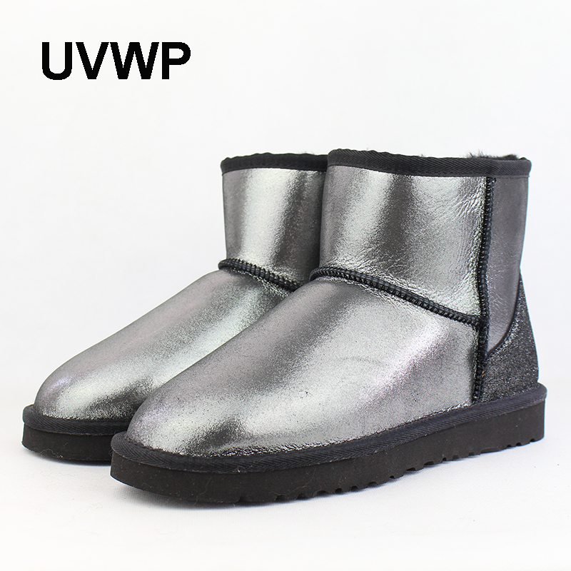 UVWP Hot Sale Top Quality Women Snow Boots 100% Natural Fur Winter Boots Woman Genuine Sheepskin Leather Warm Wool Ankle boots frico accs10e08 h