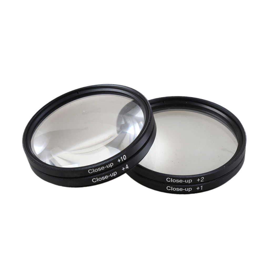Yakın çekim Makro Filtre + 1 + 2 + 4 + 10 Close-Up 49mm 52mm 55mm 58mm 62mm 67mm 72mm 77mm 82mm Canon Nikon Sony Pentax Için Kamera