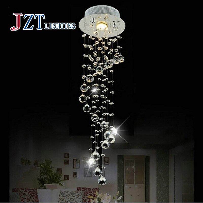 Best price Modern Luxury LED Crystal Chandelier Bedroom Corridor Hallway Entrance Crystal Chandelier Bar Balcony LED Lamp все цены